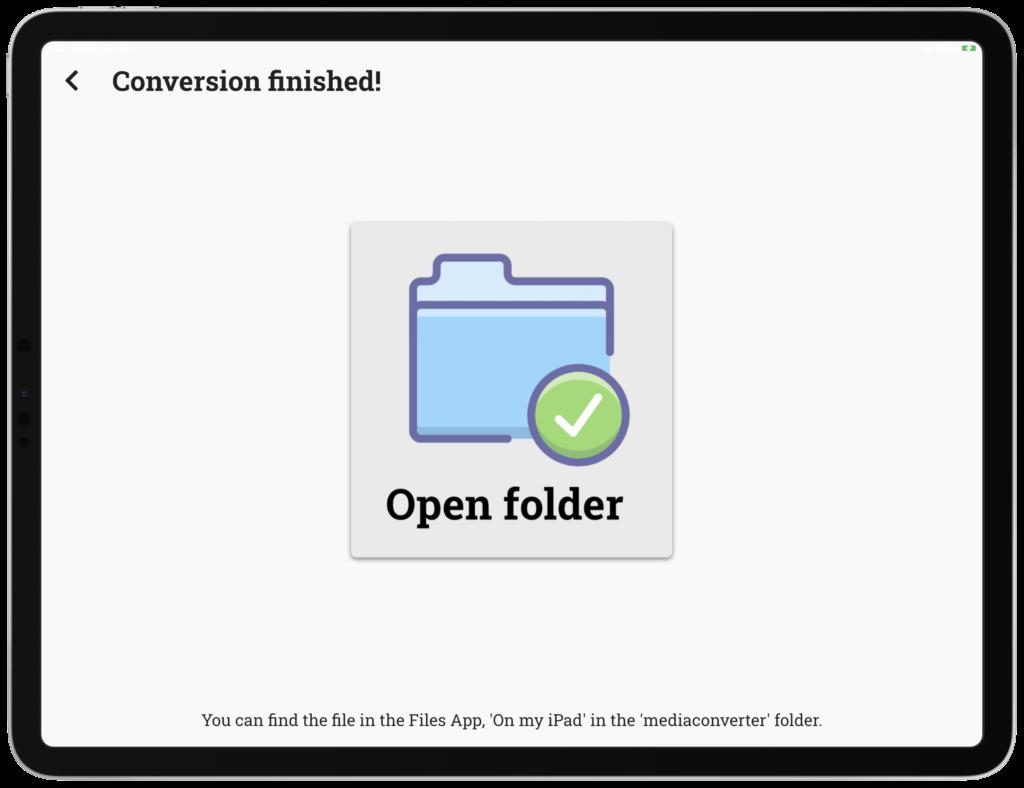 Umgewandelte Dateien können aus der Dateien App bequem geteilt und in Ihre Cloud oder Ihr LMS hochgeladen werden.