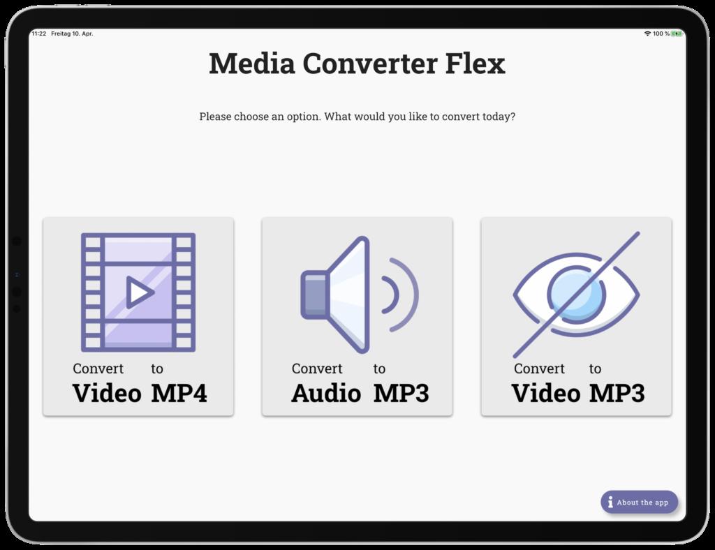Wandeln Sie Videos und Audios in gängige Formate um.