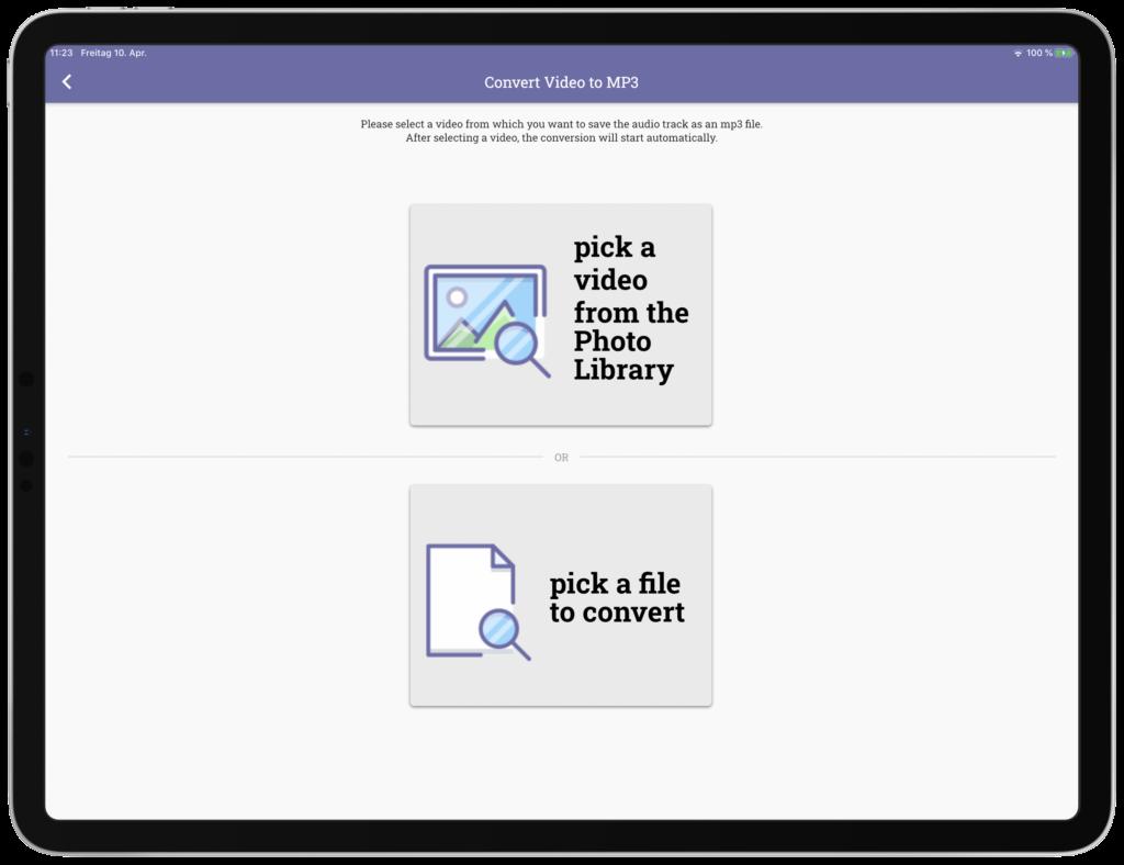 Speichern Sie die Tonspur eines Videos als eigenständige MP3 Audio Datei.