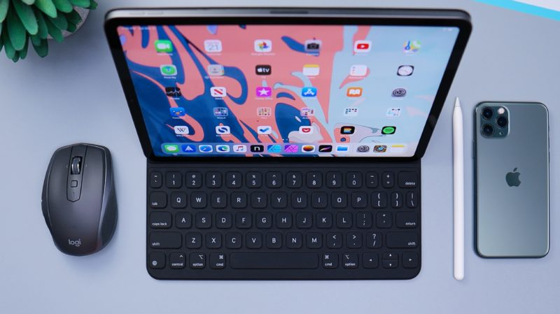 black tablet computer with keyboard